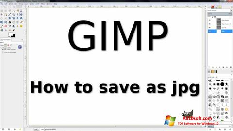 Screenshot GIMP per Windows 10