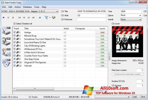 Screenshot Exact Audio Copy per Windows 10