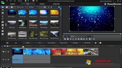 Screenshot CyberLink PowerDirector per Windows 10