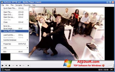 Screenshot Media Player Classic per Windows 10