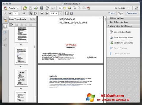 Screenshot Adobe Acrobat per Windows 10