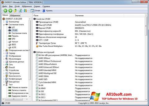 Screenshot EVEREST per Windows 10