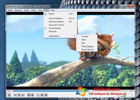 Screenshot VLC Media Player per Windows 10