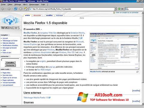 Screenshot Mozilla Firefox per Windows 10