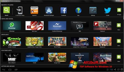 Screenshot BlueStacks per Windows 10