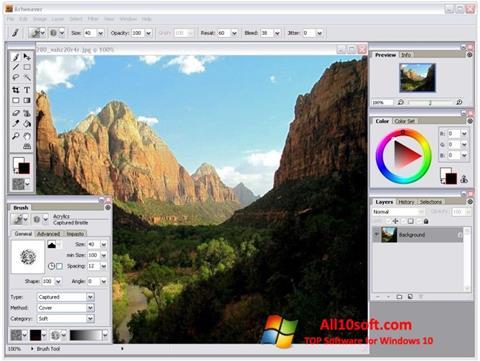 Screenshot Artweaver per Windows 10