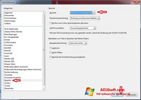 Screenshot Adobe Reader per Windows 10