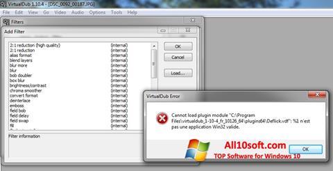 Screenshot VirtualDub per Windows 10