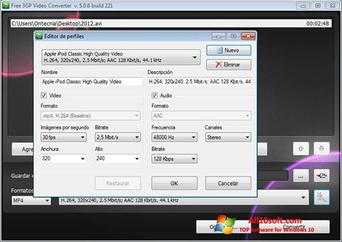 Screenshot Free MP4 Video Converter per Windows 10